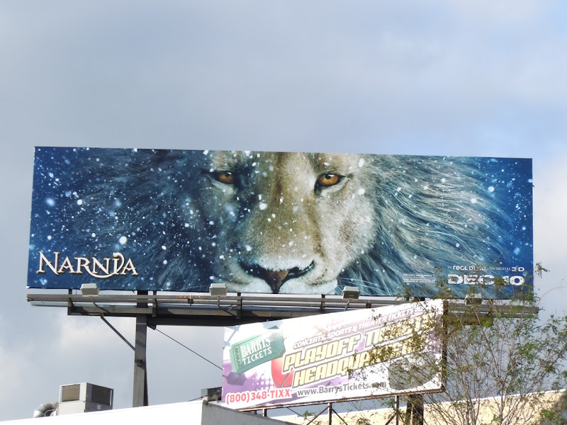 Narnia Dawn Treader movie billboard