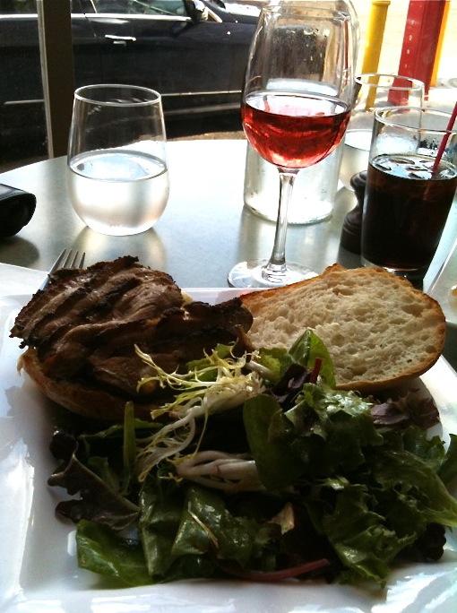 Duck breast sandwich