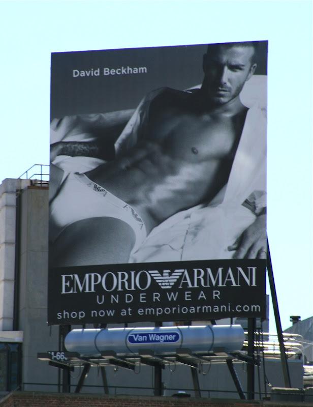 David Beckham Emporio Armani underwear billboard