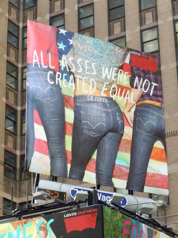 Levi's Asses Curve ID jeans billboard