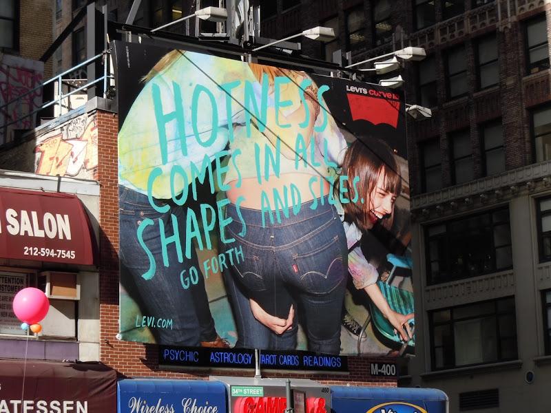 Levi's Hotness Curve ID billboard