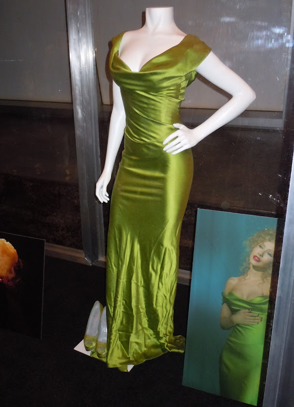 Bound To You Christina Burlesque green dress