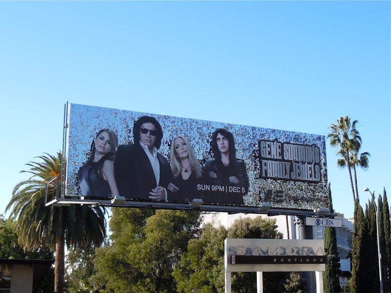 Gene Simmons Family Jewels 5 TV billboard