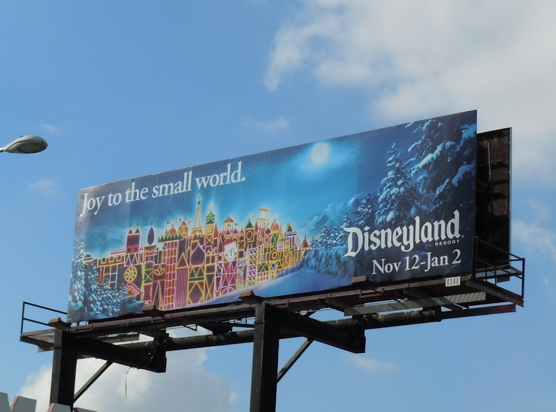 Disneyland Small World billboard