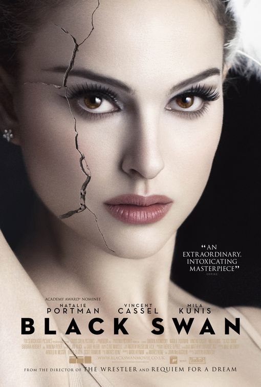 Black Swan film poster. Watching the film sometimes you don't know what's