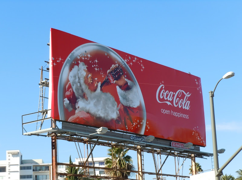Coke Santa 2010 billboard