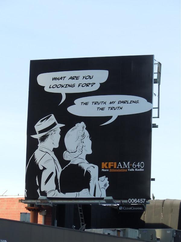 Looking for truth radio billboard