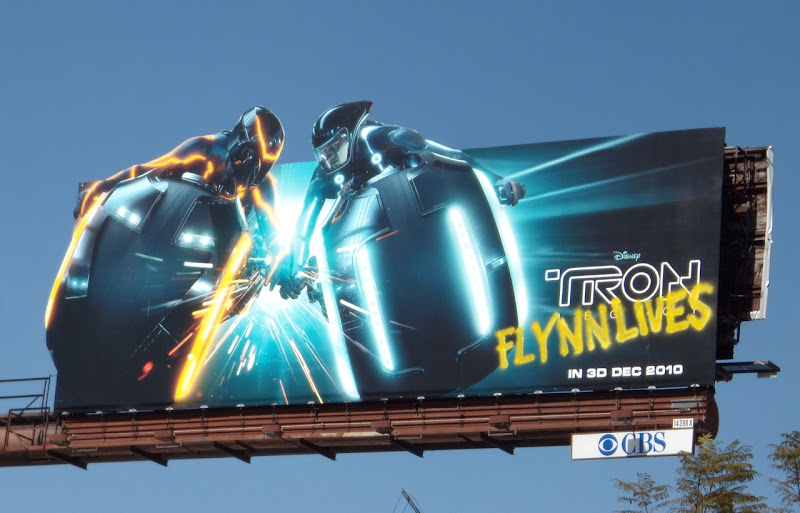 Tron Legacy dueling Lightcycle billboard