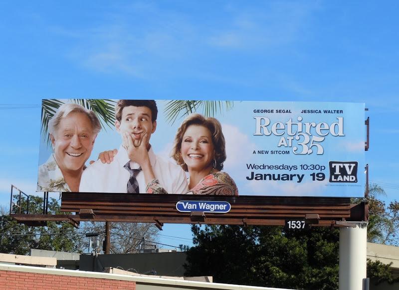 Retired at 35 TV billboard