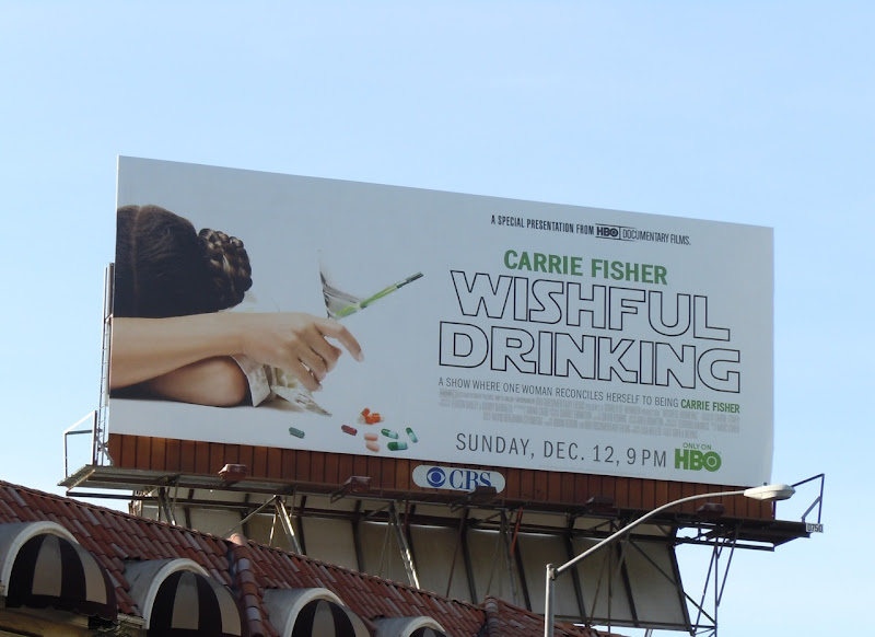 Wishful Drinking TV billboard