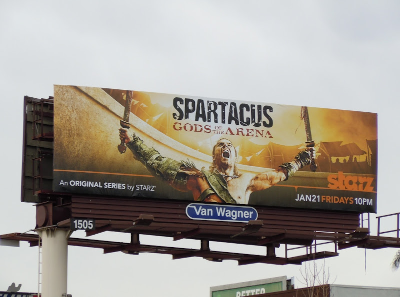 Spartacus Gods of the Arena TV billboard