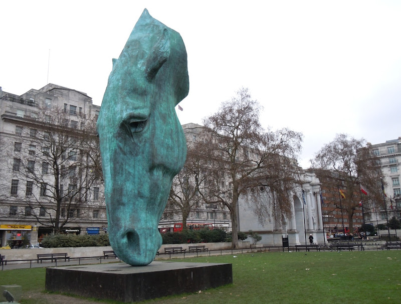 Horse Head sculpture Marble Arch