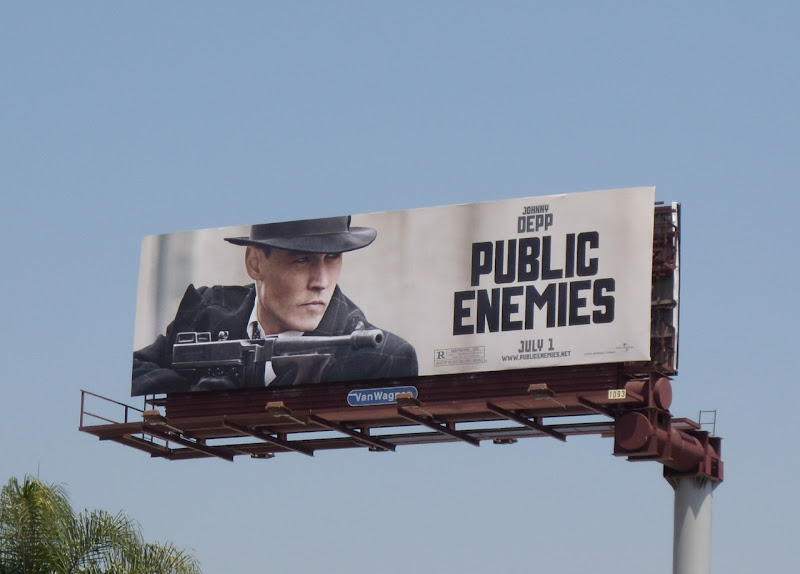 Public Enemies movie billboard