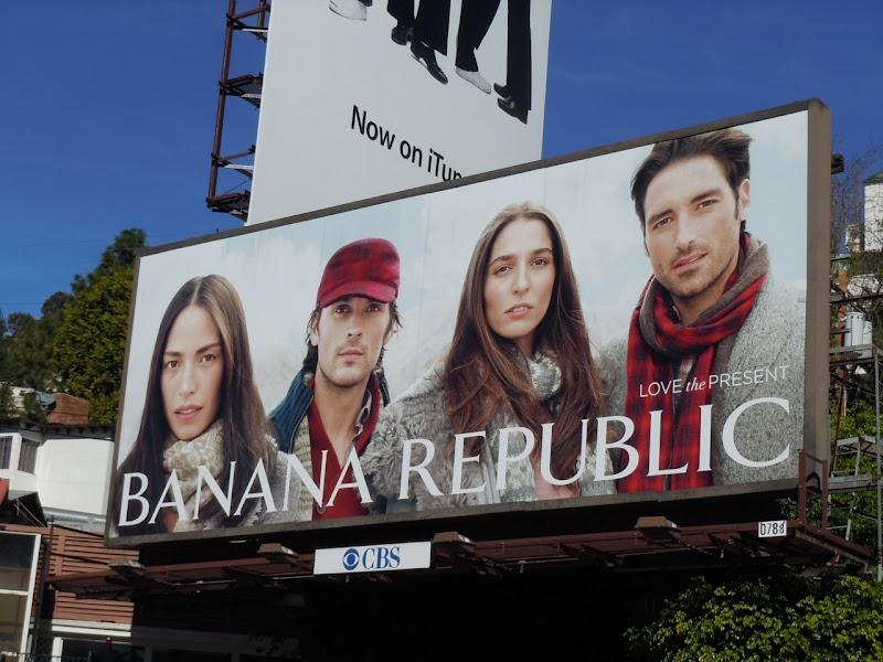 Banana Republic Love the Present billboard