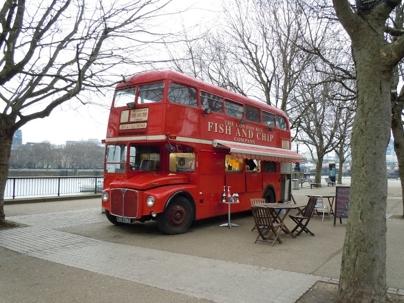 Fish and Chips London Bus SouthBank