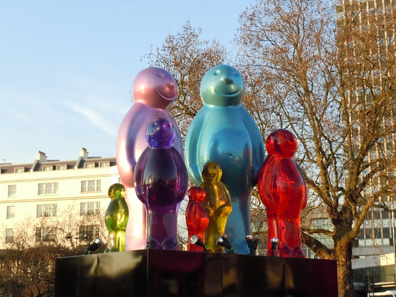 Jelly Baby Family sculpture