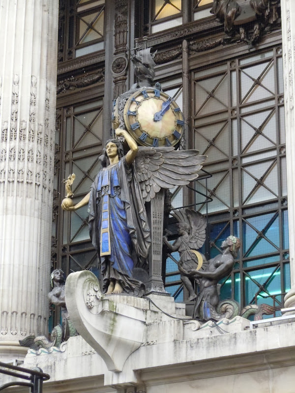 Selfridges clock angel