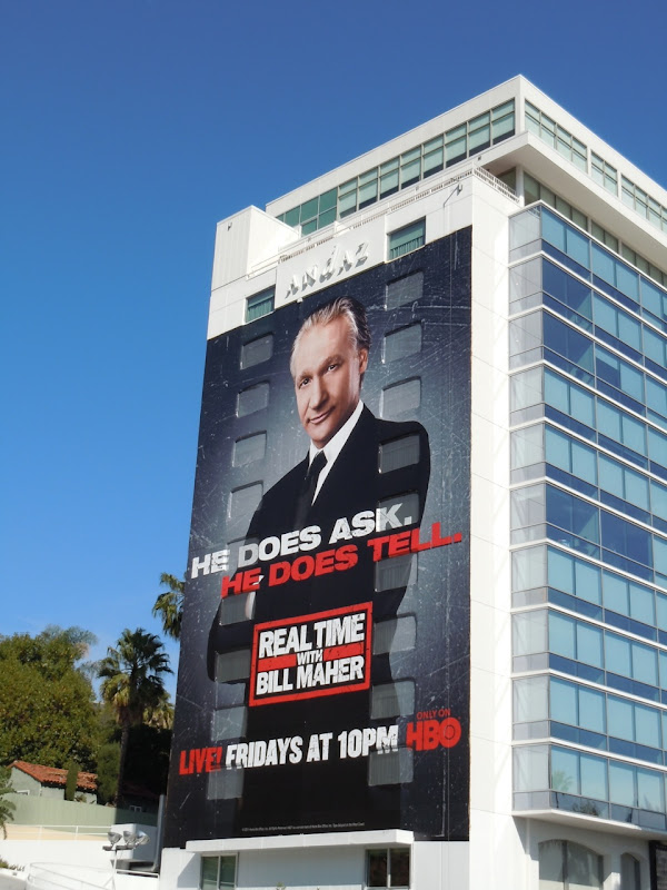 Does Ask, Does Tell Bill Maher billboard