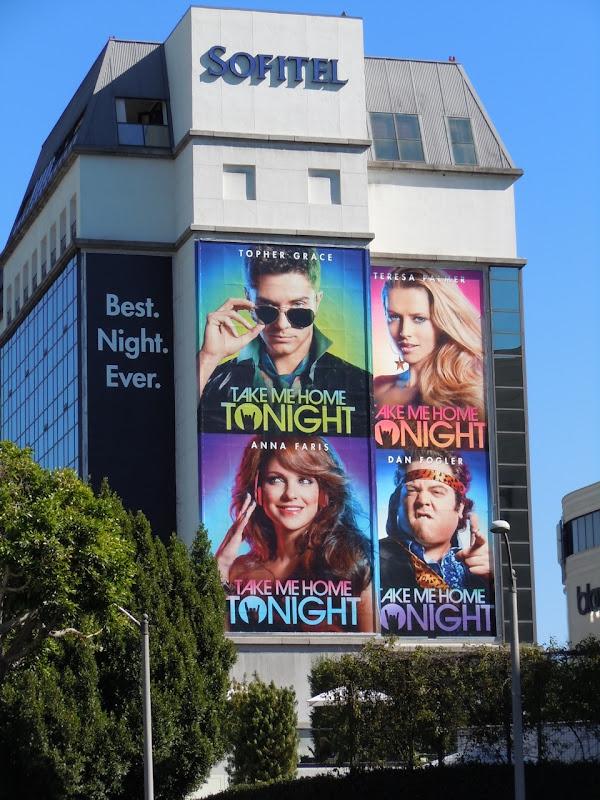 Take Me Home Tonight movie billboard