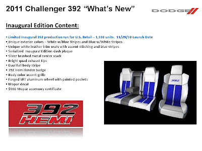 2011 Dodge Challenger Brochure Leak