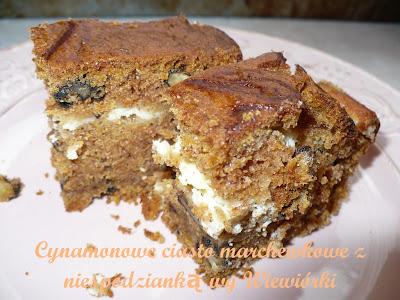 ciasto marchewkowe z warstwą serową