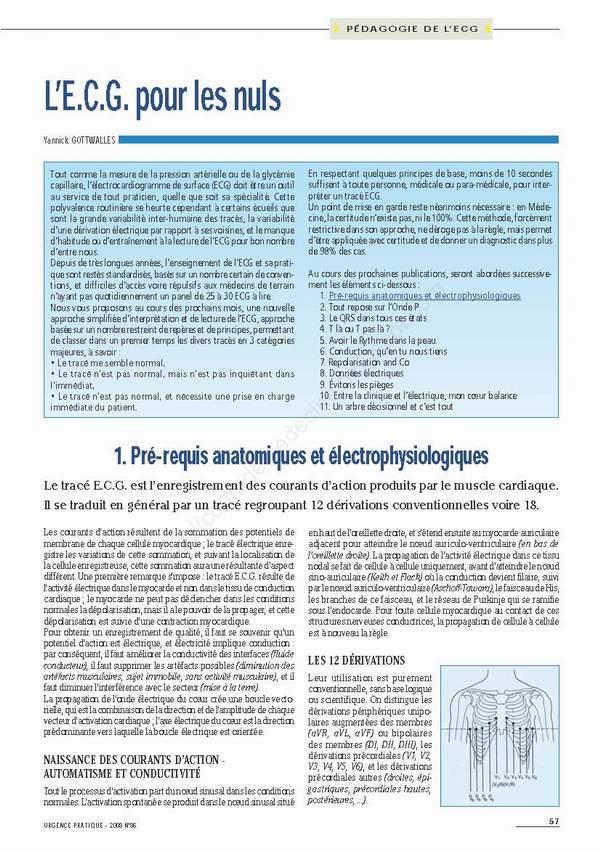 ECG pour les Nuls - Mise à jour 2011