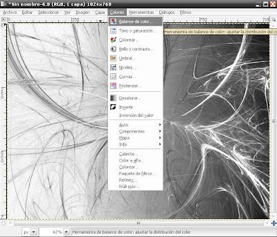 Efecto Fractal, Wallpapres con el GIMP Flama11