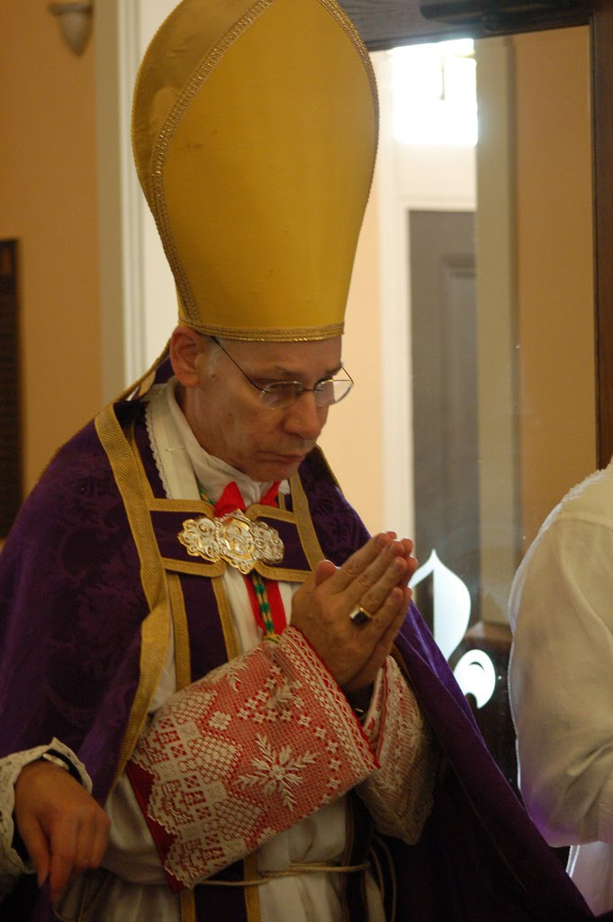 The ceremonies begin with the bishop entering the church and ordering