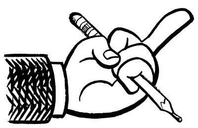 Joel Priddy doodles defiantly.