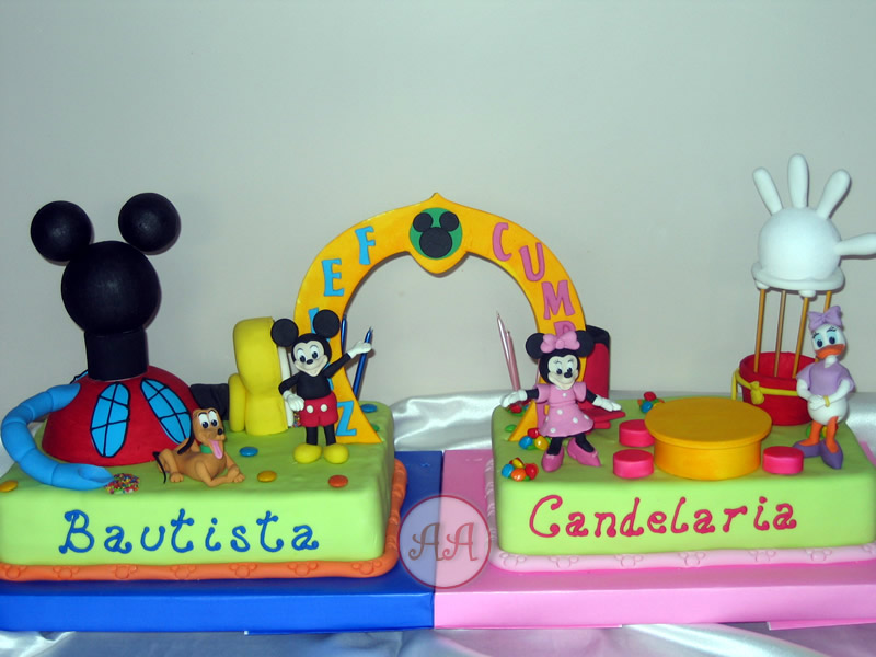 Casa de mickey mouse para gemelos