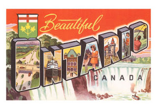 Beautiful Ontario Canada, vintage postcard