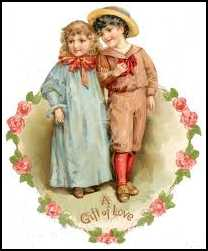 Blue for girls, pink for boys in Victorian times.