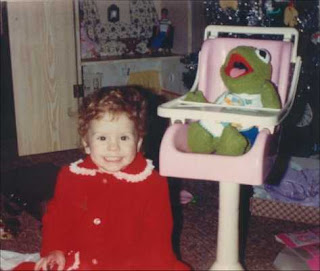 Happy Toddler on Christmas morning, 1983.
