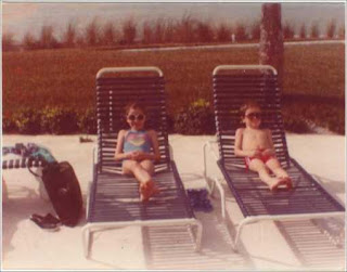 My brother and I in Florida in the 1980s.