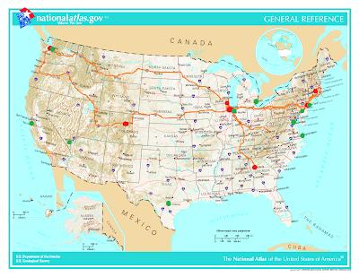 US map   geographic The Journey Continues