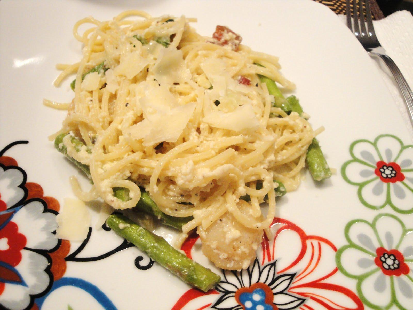 ... , & Life: {recipe} bruschetta, sangria, & asparagus carbonara, oh my