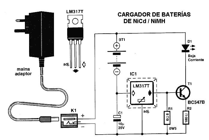 Electronica cargador de pilas recargables con led - Cargador pilas recargables ...