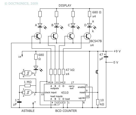 el rincon de los circuitos  dado digital