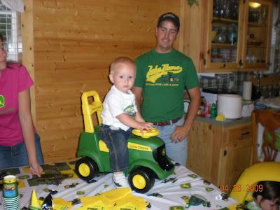 John deere tractor to ride on from grandpa and grandma
