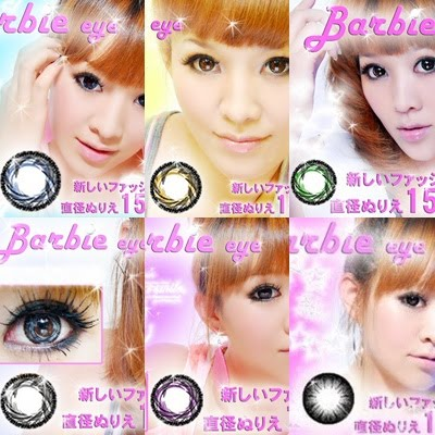 softlens BARBIE EYE 15,8mm tornado (JAPAN CONTACT LENSE) + FREE LENSCASE
