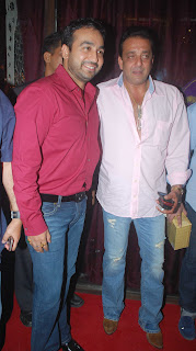 Raj Kundra with Sanjay Dutt