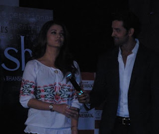 Aishwarya Rai and Hrithik at first promo launch of Guzaarish