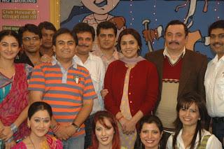 Rishi and Neetu Kapoor on the sets of Tarak Mehta Ka Ooltah Chashma<br />