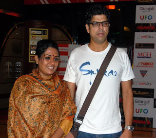 Ashwini Kalsekar with her husband Murli Sharma At Piranha 3d Premiere At Cinemax in Mumbai On 28th Oct 2010