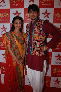 Manasi Parekh & Rahil Azham at the premiere of Star Plus Gulaal