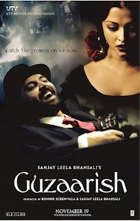 Guzaarish movie wallpaper poster
