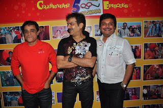 Sanjay Chhel, JD Majethia  & Asit Kumarr Modi@ 500 episodes celebration party of TMKOC