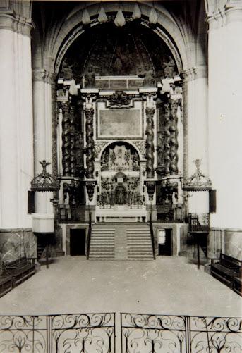 IMAGEN DEL RETABLO MAYOR DE LA PARROQUIA HASTA 1936