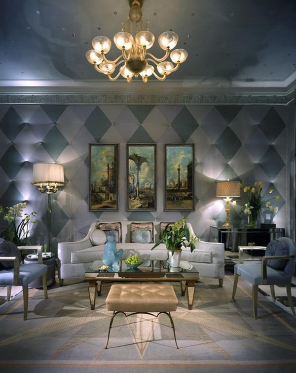 Wall decor in the living room : Creative living room perspective interior design ideas by