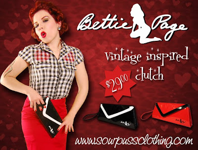 Buy your sweety a Bettie Page clutch for Valentine's Day